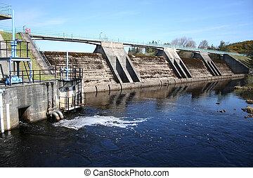 fördämning, vattenkraft