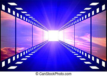 fördunklar på solnedgången, bio, mönster