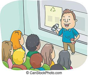 föreläsning, återvinning