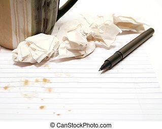 författare spärrar