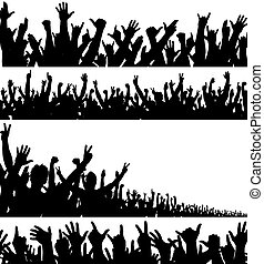 förgrunderna, folkmassa