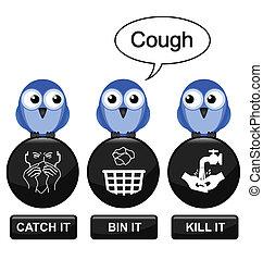 förhindrande, influensa