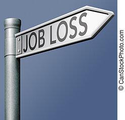 förlust, jobb