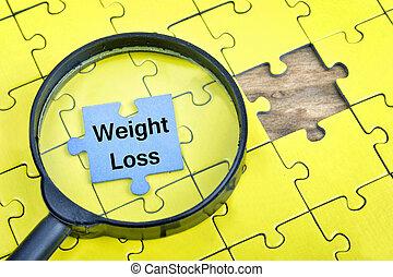 förlust, problem, ord, vikt