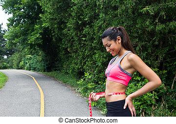 förlust, vikt, fitness