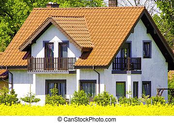 förorts-, hus
