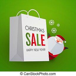 försäljning, design, papercraft, mall, jultomten, väska, söt...