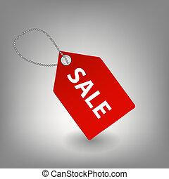försäljning, ikon, vektor, illustration