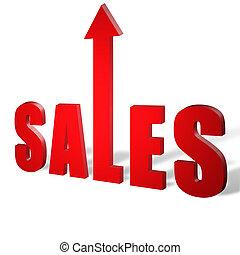 försäljningarna, uppe