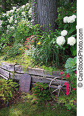 förse med en hulling, trädgård
