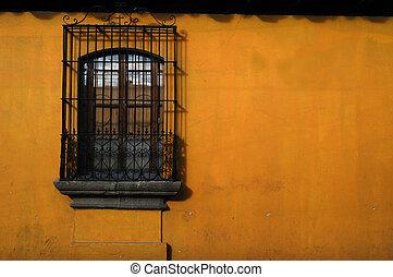 försedd med diagonallinjer, fönster, mexico