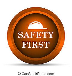 första, säkerhet, ikon
