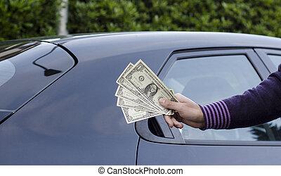 förtjän pengar, säljande, bilar
