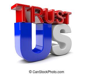 förtroende, oss