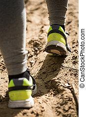 fötter, direktion skor