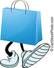 fötter, väska, gåva