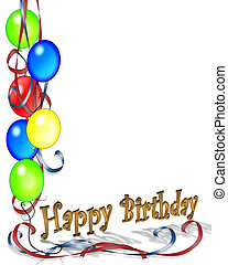 fødselsdag, balloner