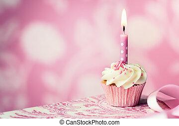 fødselsdag, cupcake