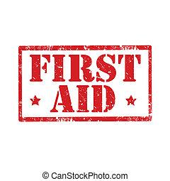 først, aid-stamp
