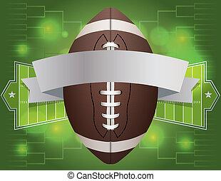 fútbol americano, bandera, ilustración