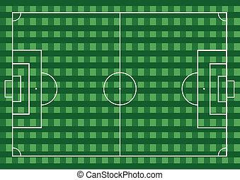 fútbol americano del fútbol, en, el, hierba verde, field.