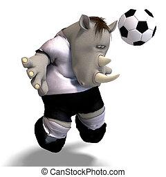 fútbol americano del fútbol, juegos, /, rinoceronte