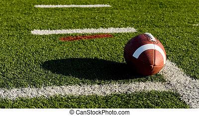 fútbol americano, en, campo