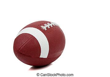 fútbol americano, en, un, fondo blanco