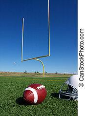 fútbol americano, postes, meta