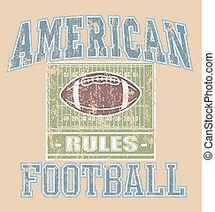 fútbol americano, regla
