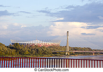fútbol, estadio, varsovia