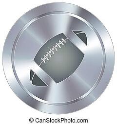 fútbol, icono, en, industrial, botón