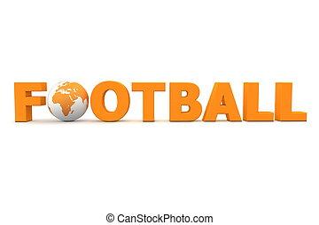 fútbol, mundo, naranja