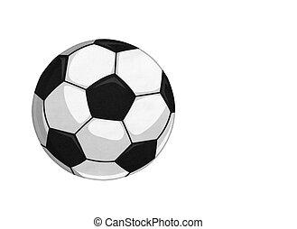 fútbol, pelota del fútbol, aislado, plano de fondo