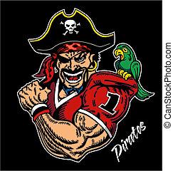 fútbol, pirata, mascota