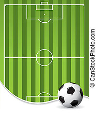 fútbol, plano de fondo, tono