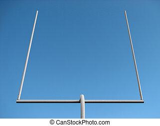 fútbol, postes, meta