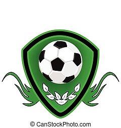 fútbol, shield.