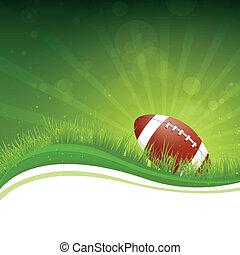 fútbol, vector, plano de fondo