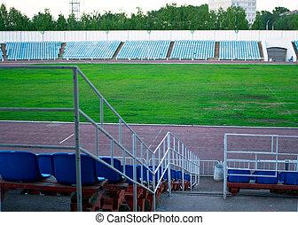 fútbol, viejo, estadio