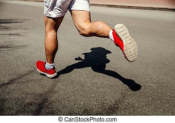 füße, läufer, rennender , mann