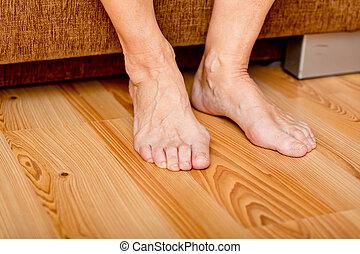 Alte Dame Füße Bilder
