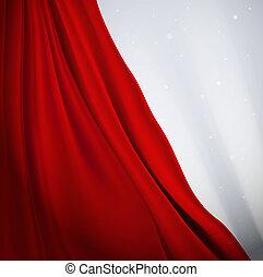 függöny, piros