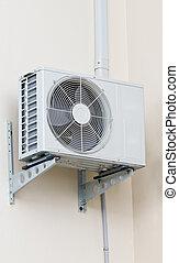 függő, conditioner, levegő, modern, wall.