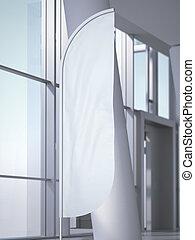 függőleges, hivatal, vakolás, interior., transzparens, felteker, 3
