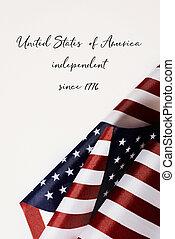 független, egyesült, since, egyesült államok, 1776, amerika