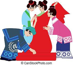 für, chinesisches , wedding