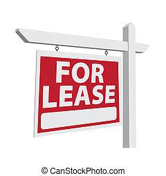 für, pacht, vektor, immobilien- zeichen