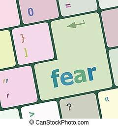 fürchten, taste, auf, edv, pc, tastatur, schlüssel, vektor, abbildung