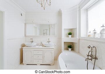 fürdőszoba, alatt, a, francia, mód